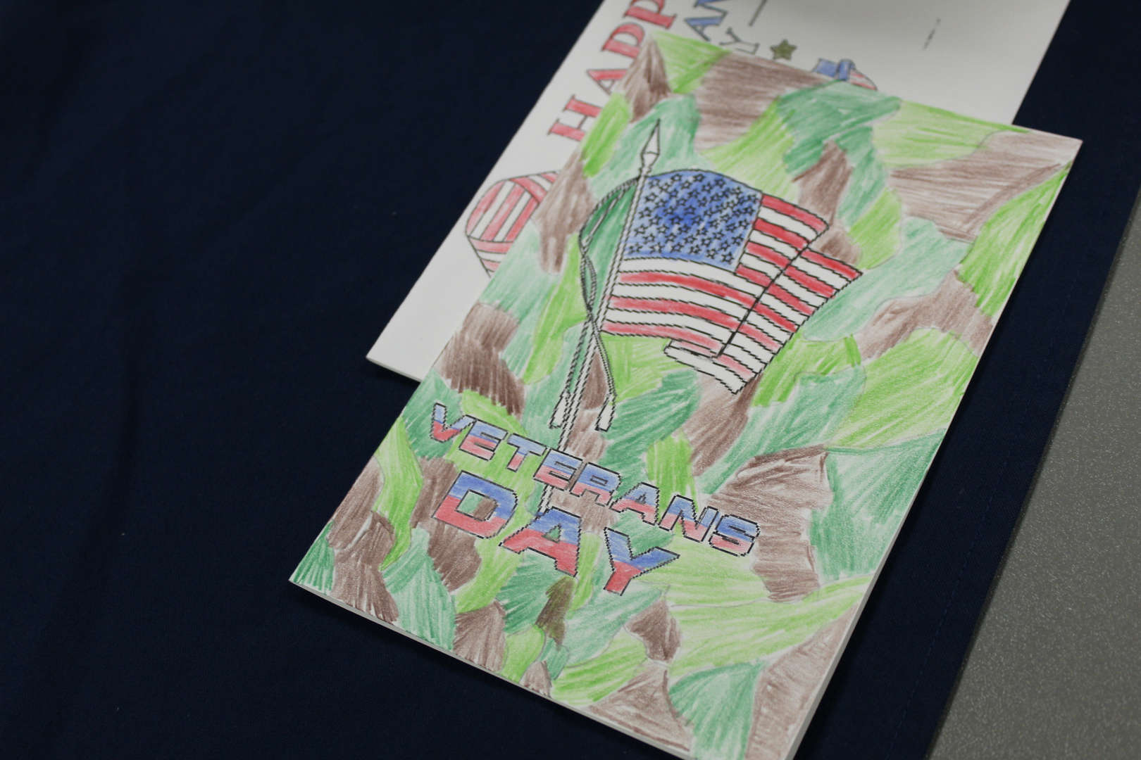 A hand made Veterans Day card