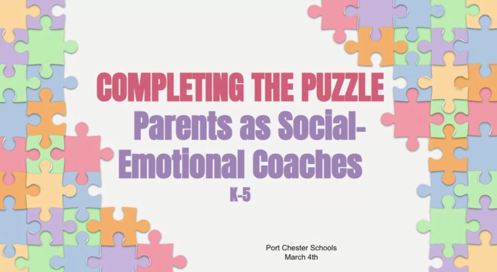 Slide for discussion on parents as social-emotional coaches