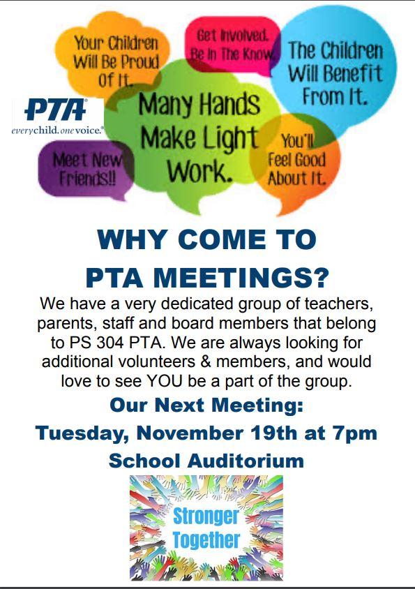 Next PTA Meeting