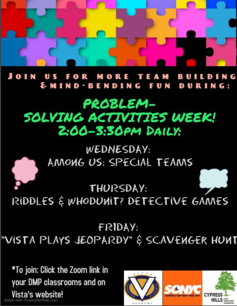 problem solving activities week