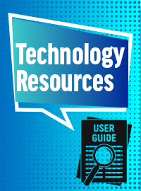 Technology Resources -User guides banner