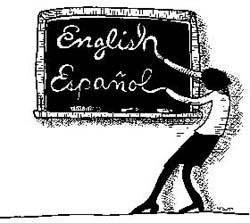 Transitional Spanish to English cartoon