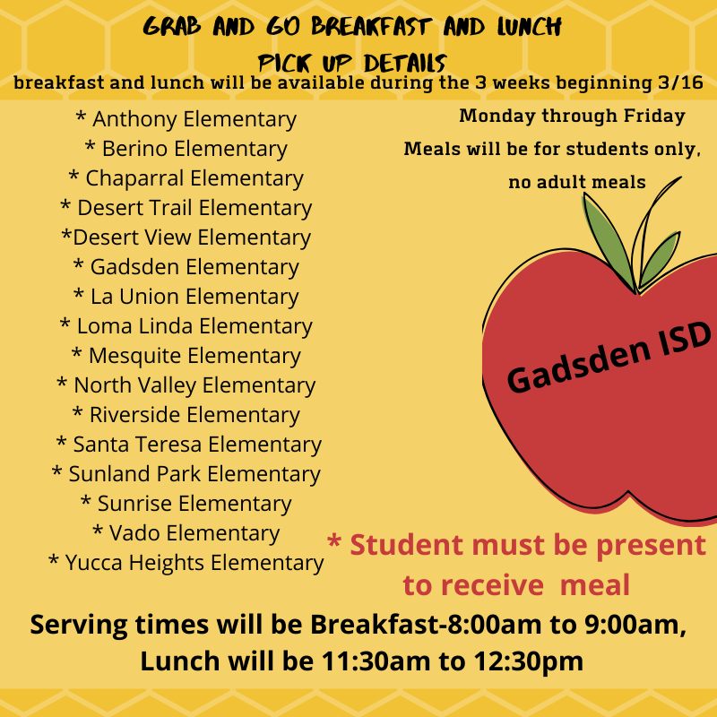 Grab and Go Breakfast and Lunch announcement