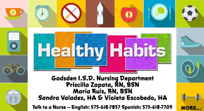 Healthy habits nursing banner