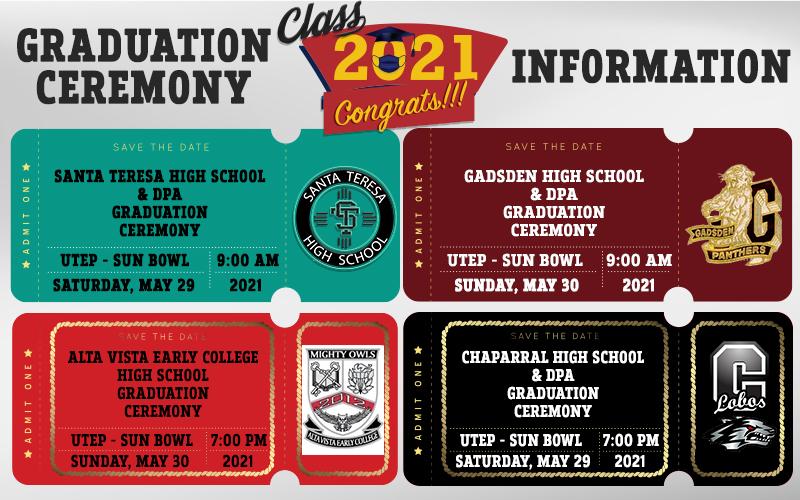 GISD Graduation Ceremony Information 2021