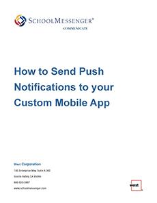Gadsden ISD App How to send push notification banner