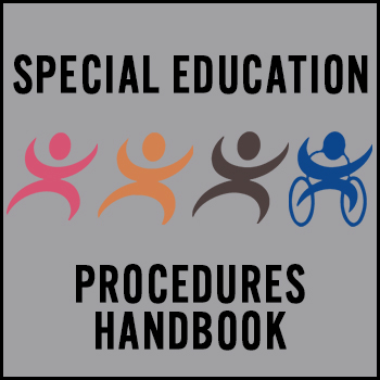 Special Education Procedures Handbook banner