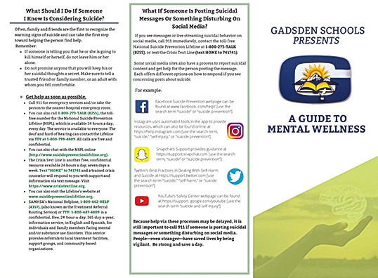 GISD Guide to Mental Wellness banner