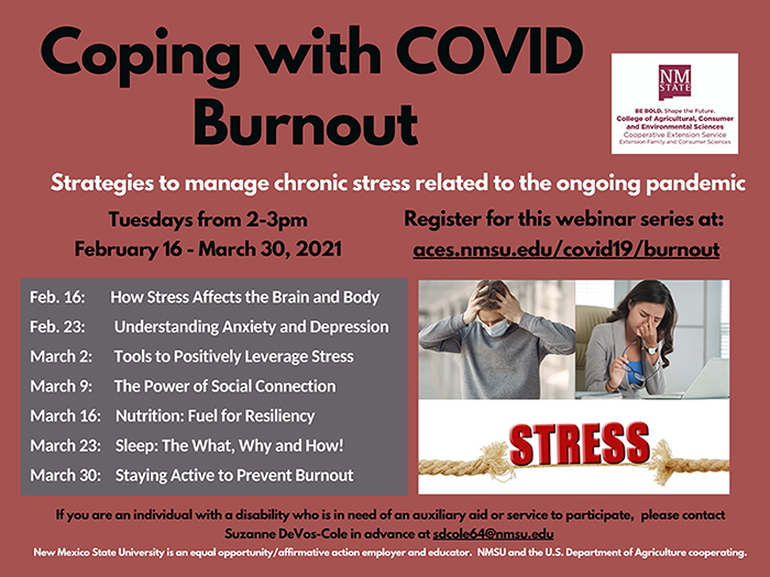 Coping with COVID Burnout Flyer - promotional banner