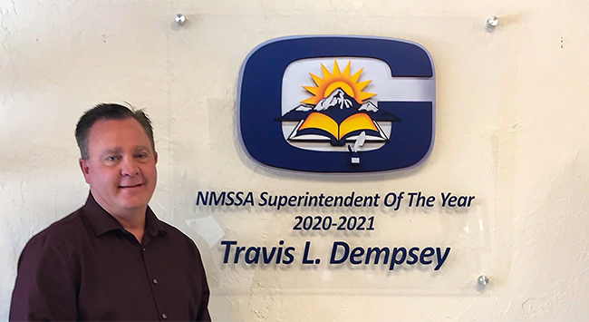 NMSSA Superintendent of the year 2020-21 Travis L. Dempsey