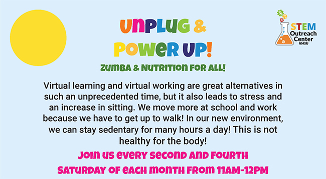 NMSU-STEM Unplug and Power Up Zumba & nutrition event