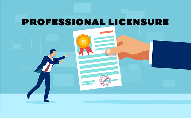 Professional Licensure banner
