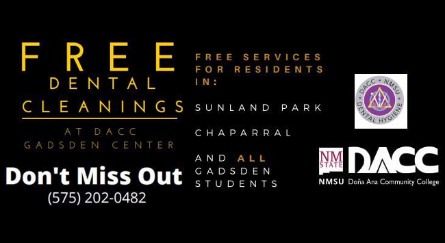 Free Dental Cleanings at DACC Gadsden Center