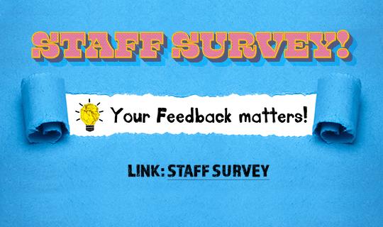 Staff Survey banner
