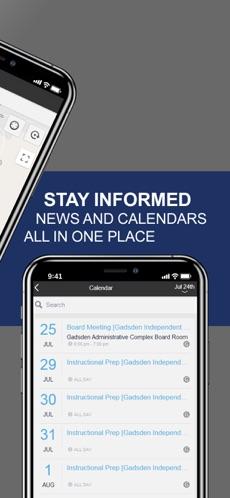 Gadsden ISD App promotional banner