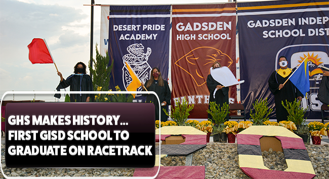 Gadsden High graduation 2020 at Vado Speedway Park