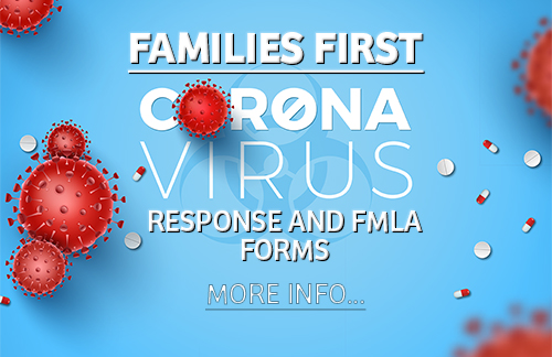 Families-first Coronavirous Response and FMLA forms banner