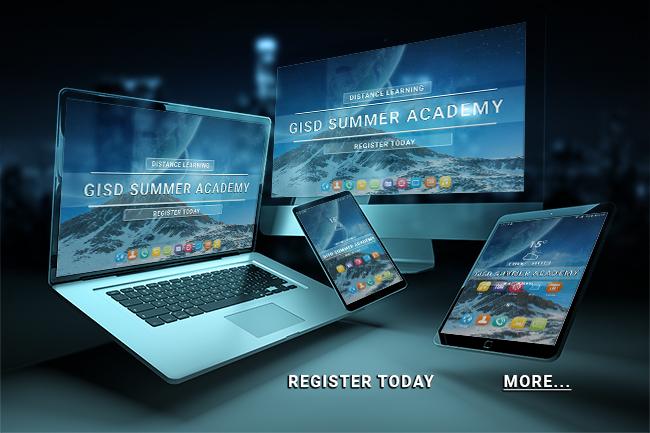 GISD Summer Academy Online 2020 banner