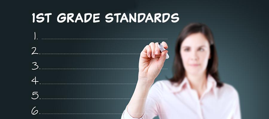 1st grade standards banner