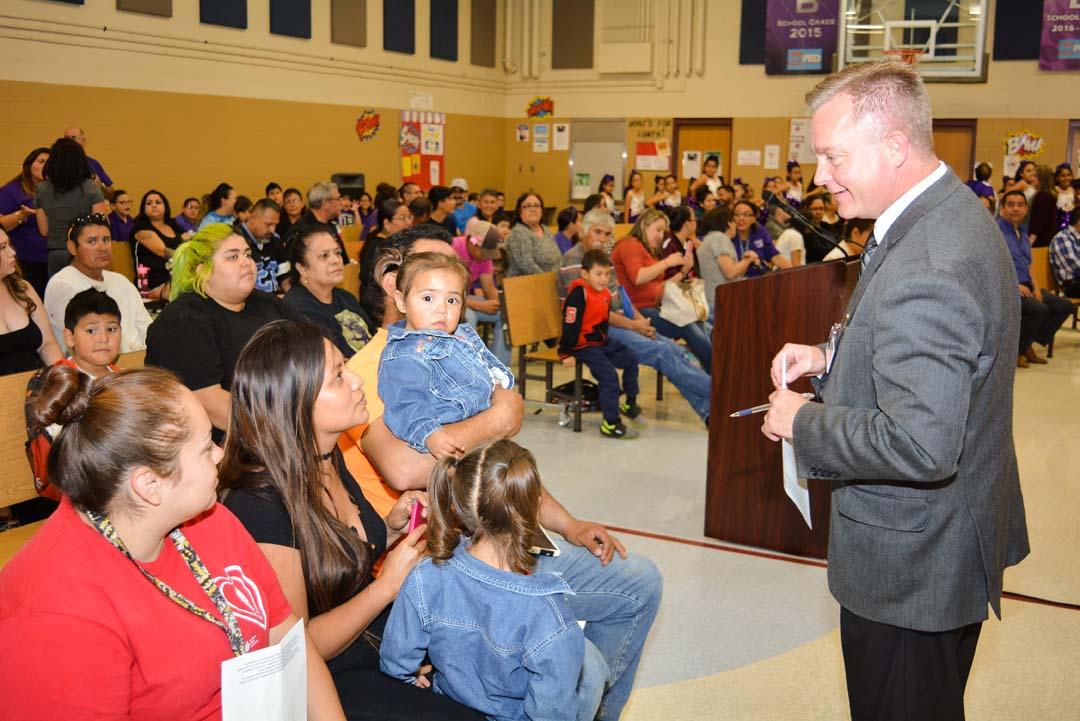 Superintendent visiting schools