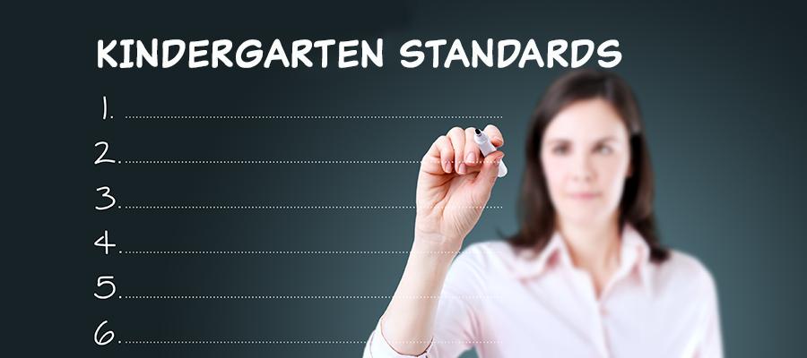 Kindergarten Standards banner
