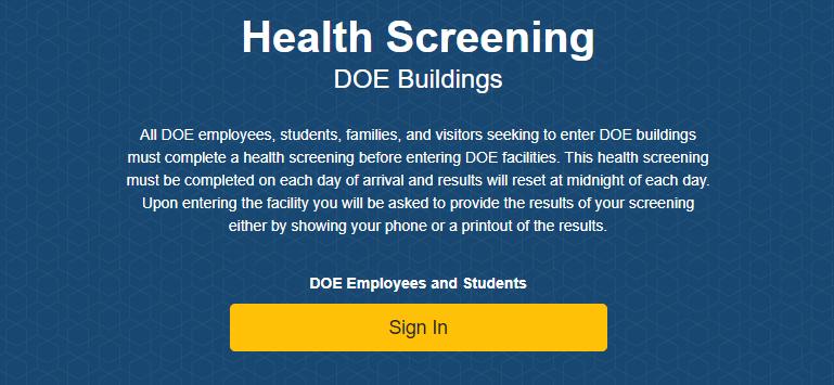 Health Screening for COVID-19