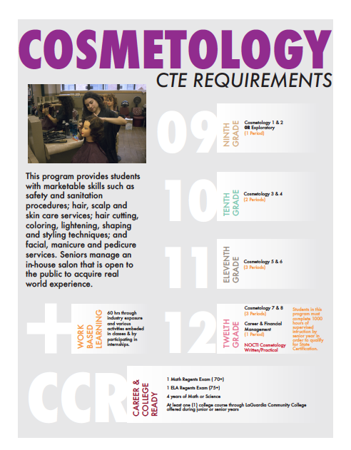 Cosmetology and salon management program at QTHS