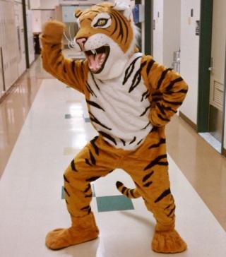 Queens Technical High School tiger mascot