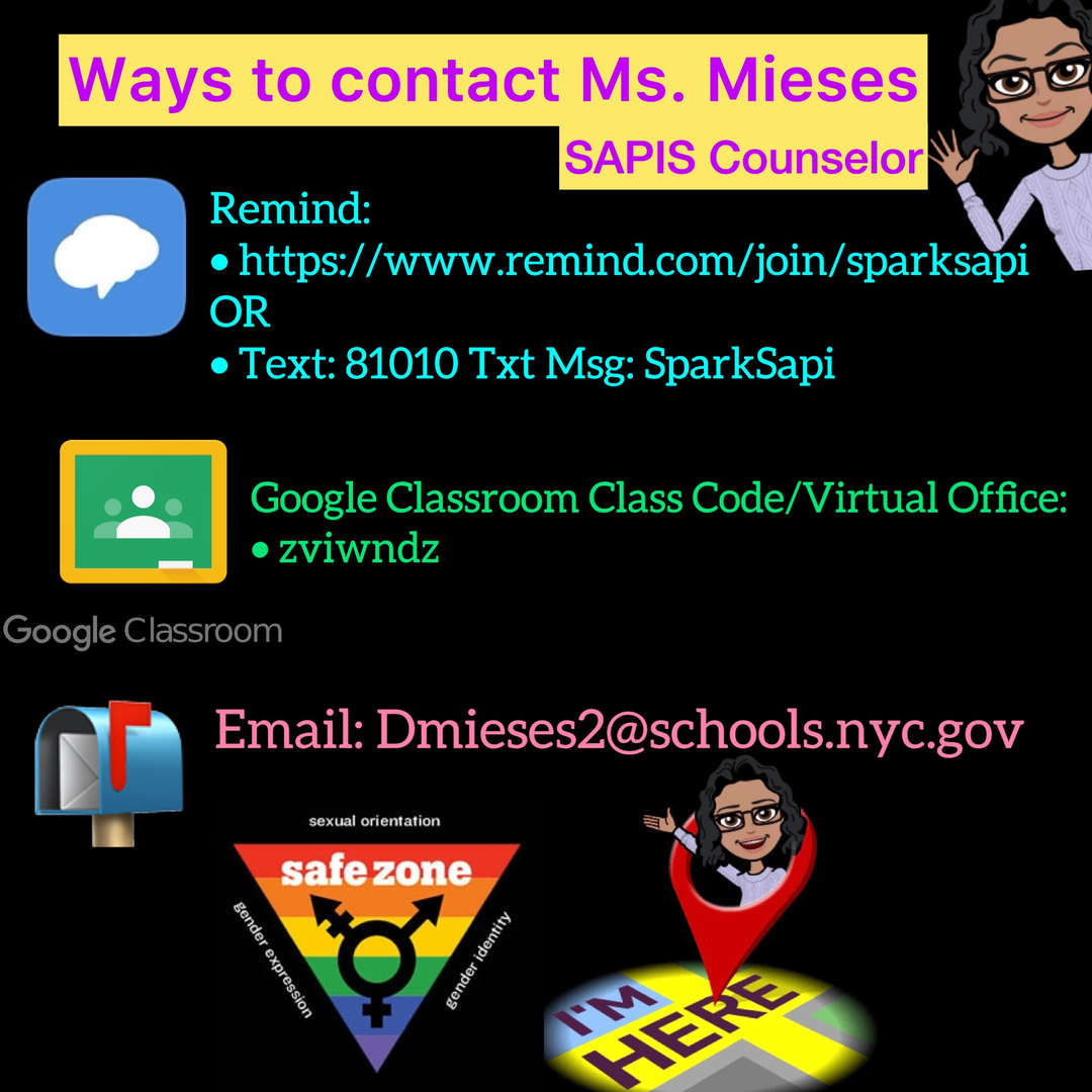 Contact our SPARK Counselor Ms. Mieses
