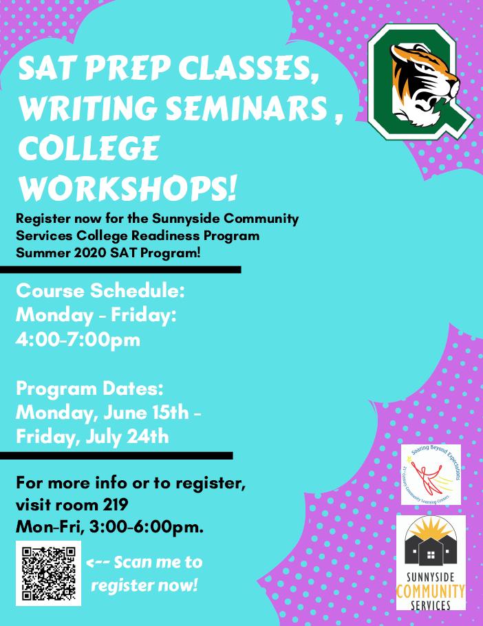 SAT Workshops at Sunnyside Community Services