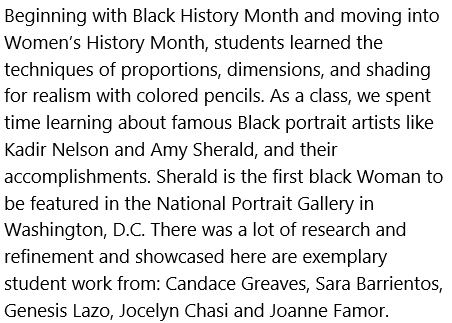 This is a project about black and women's history