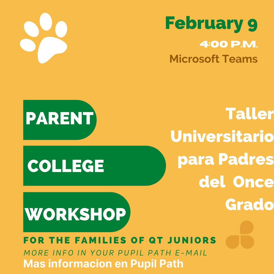 Parent Workshop with Ms. Karabelas