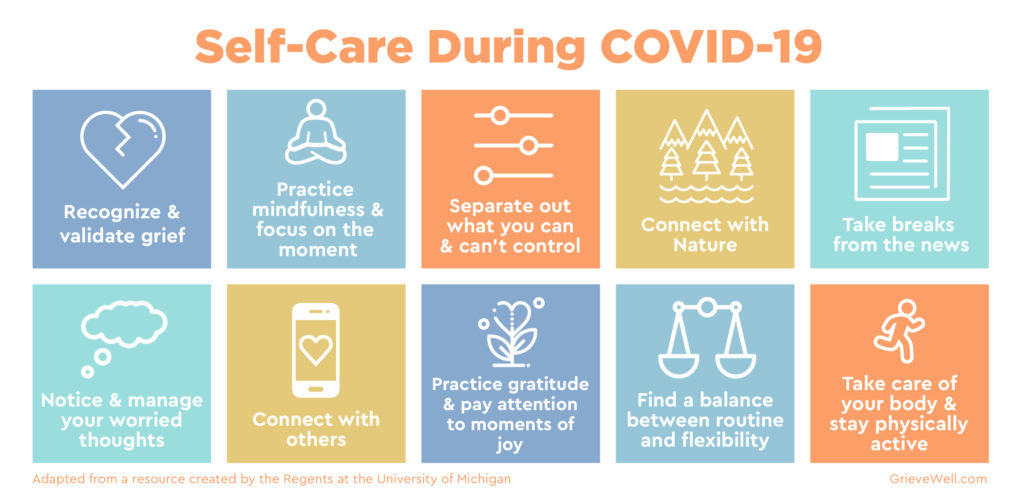 Strategies for self-care during COVID-19
