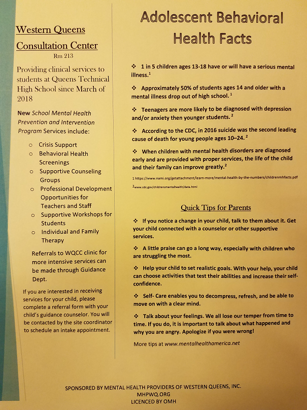 Adolescent behavioral health facts