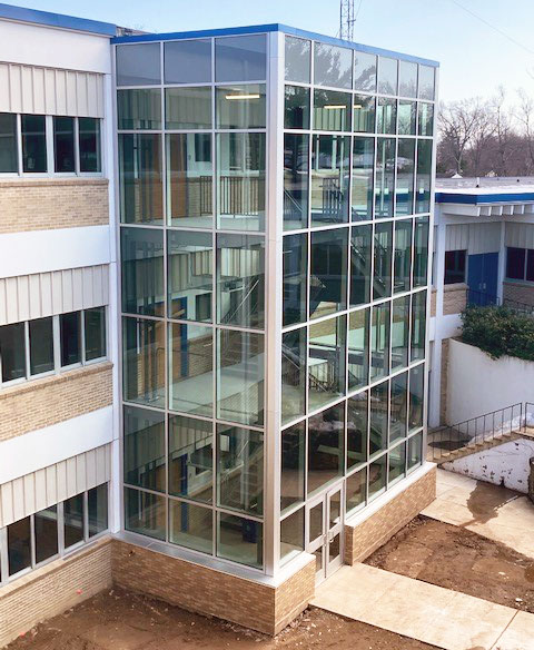 PRHS Stair Tower side view, further away
