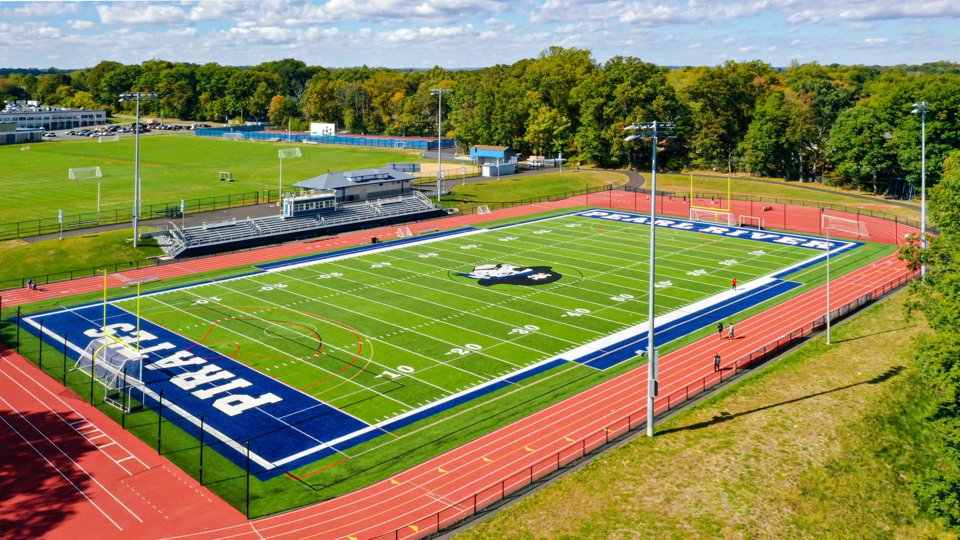 PRSD HS Athletic Fields and Campus - Drone Shot