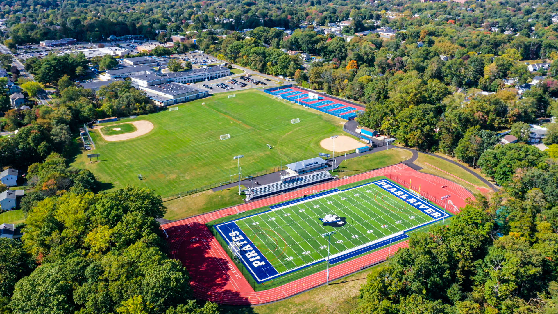 Second PRSD HS Athletic Fields and Campus - Drone Shot
