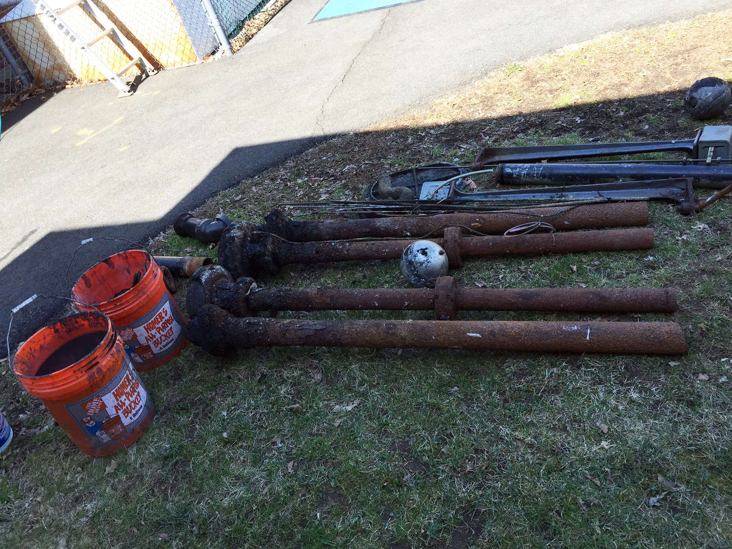 Pipes for Evans Park Sewer Ejector System 2015-16