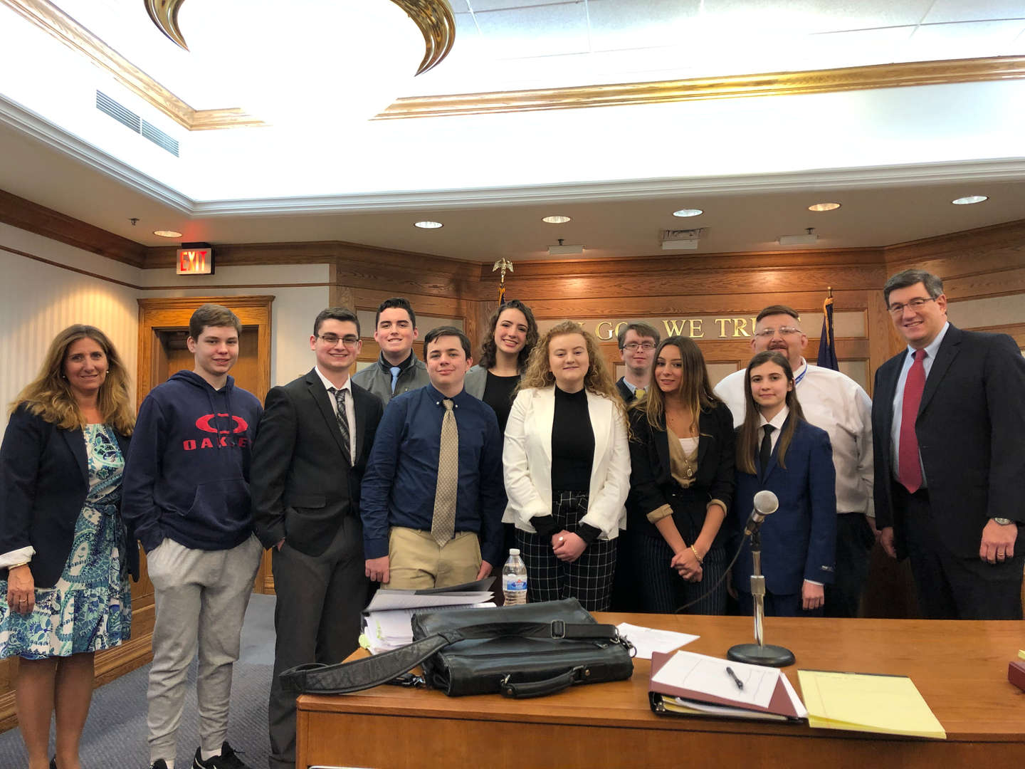 Mock Trial Team at court