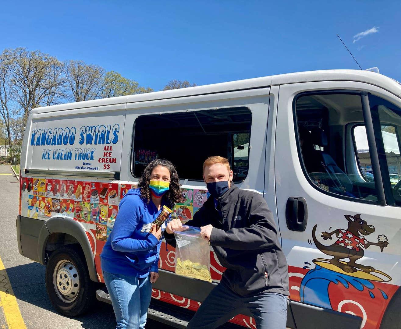 Senior's get an ice cream treat on Senior's Day