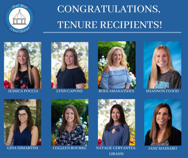 Collage of tenure recipients