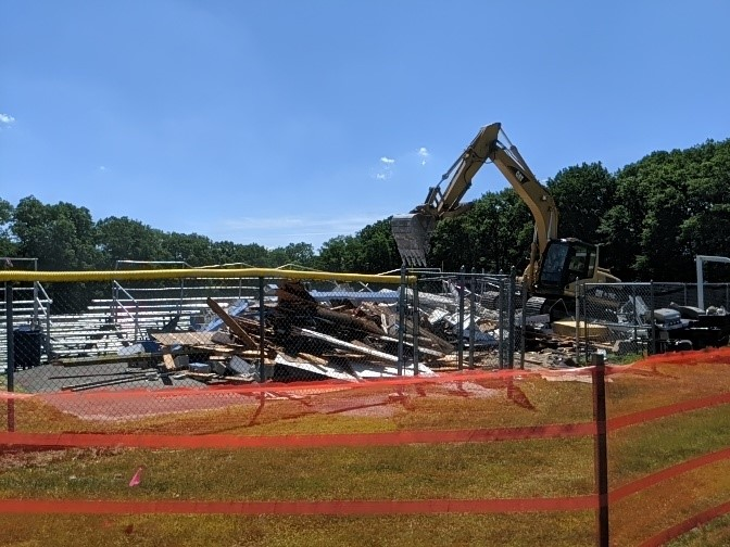 PRHS press box demolition