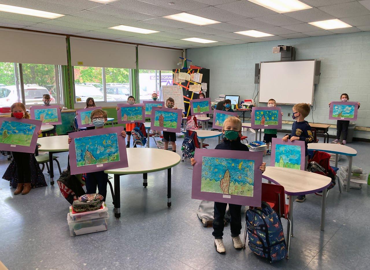 Evans Park Paints Van Gogh