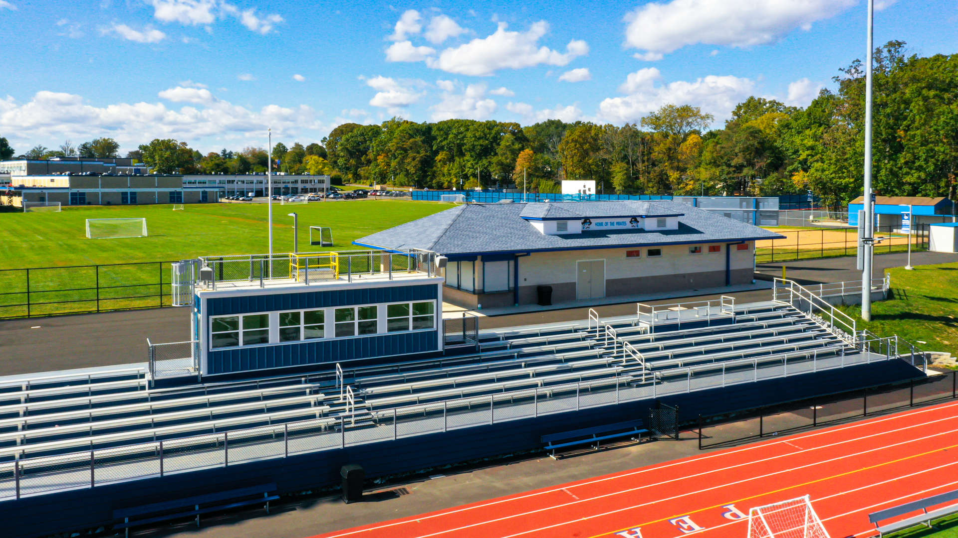 Second  PRSD HS Bleachers and Concession Stand - Drone Shot