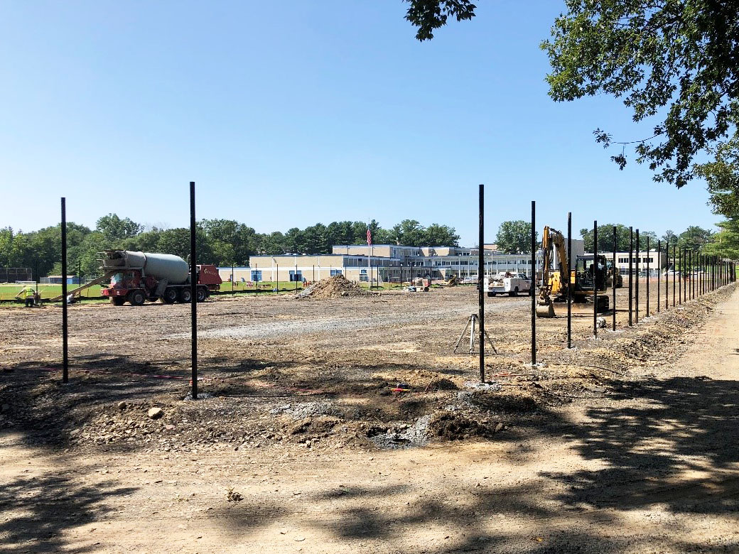 Fence Posts at PRHS Tennis Courts