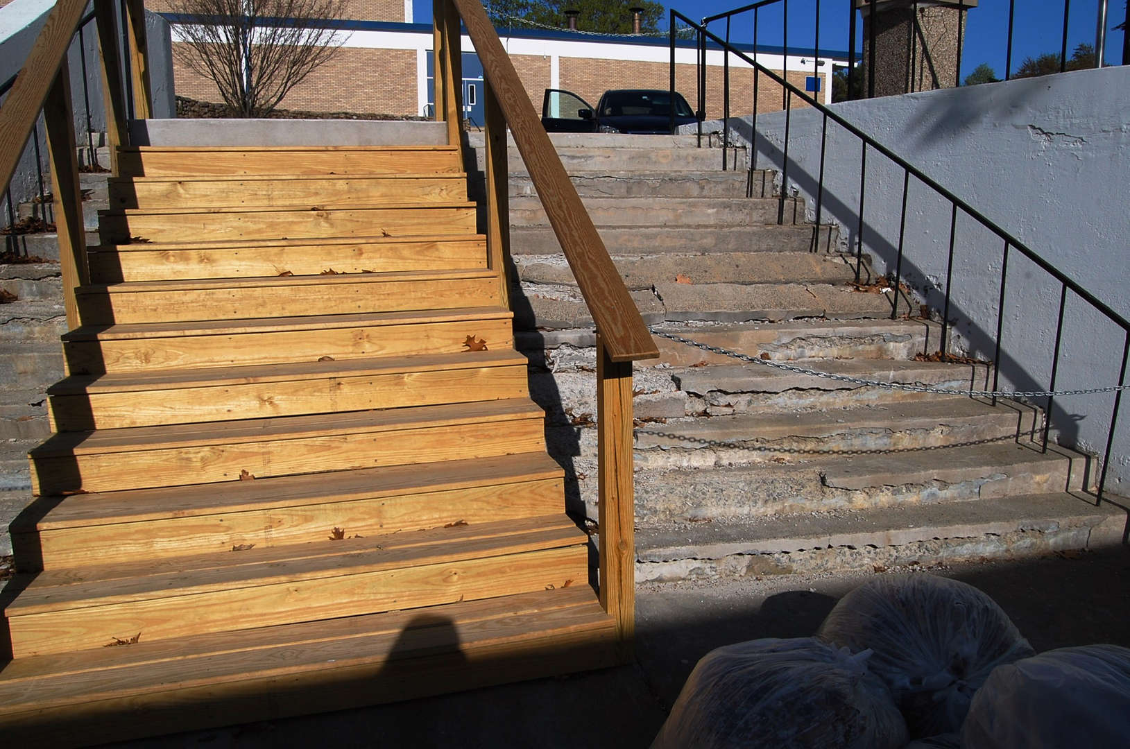 2015-16 School Budget - another view of PRHS exterior stairs