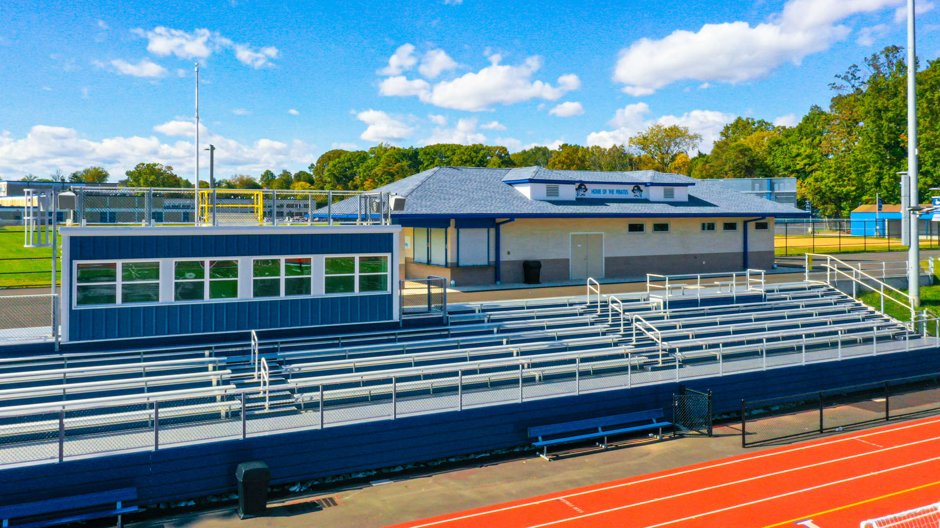 PRSD HS Bleachers and Concession Stand - Drone Shot