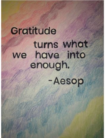 Gratitude turns what we have into enough - Aesop