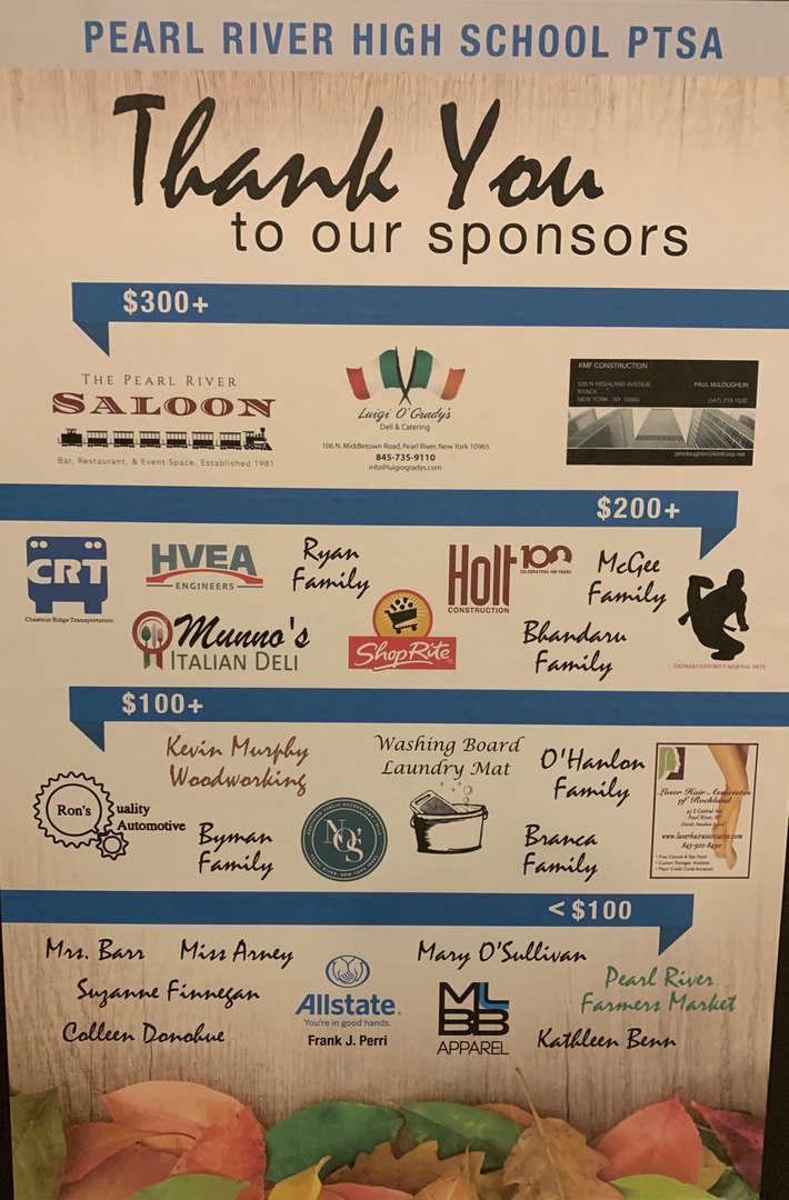 Sponsors of PRHS PTSA Fall fundraiser