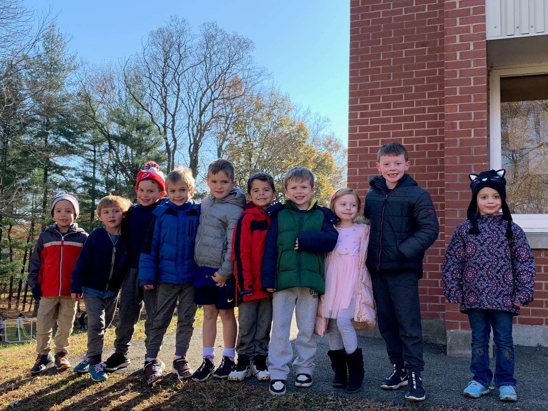 Children standing for photo